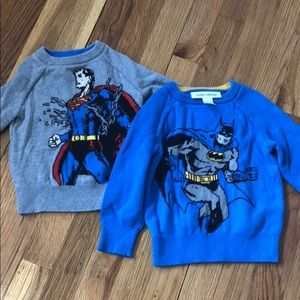 Gap 18-24 months sweater boys Batman Superman